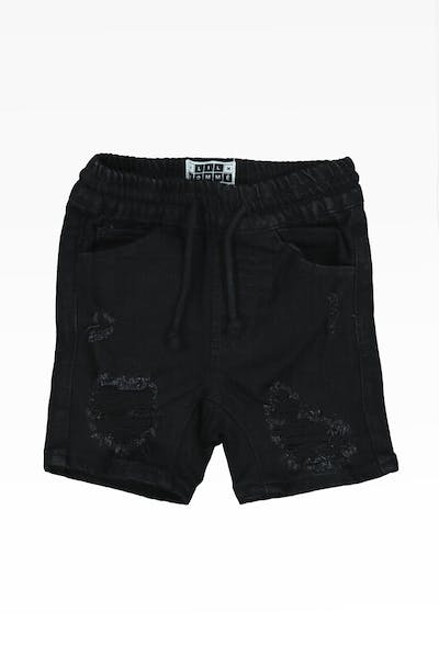 Lil Hommé Anarch Denim Short Black