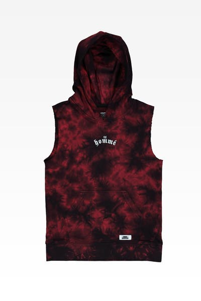 Lil Hommé Risk Cut Off Hoodie Black/Red