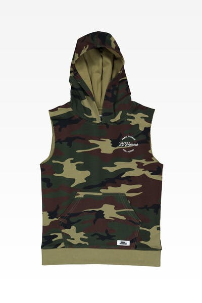 Lil Hommé Collective Cut Off Hoodie Camo