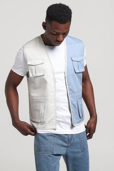 New Slaves Breach Vest Blue/Grey