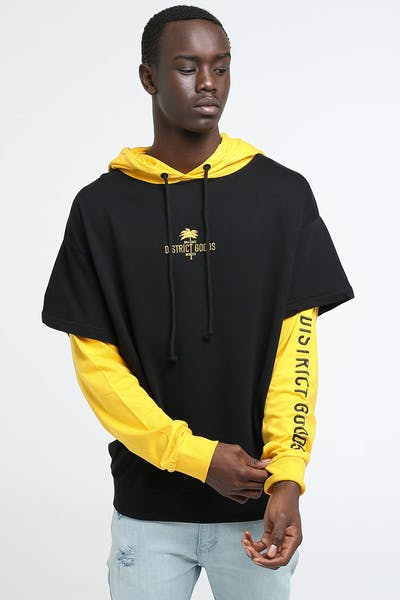 District Goods Fever Hoodie Black/Yellow