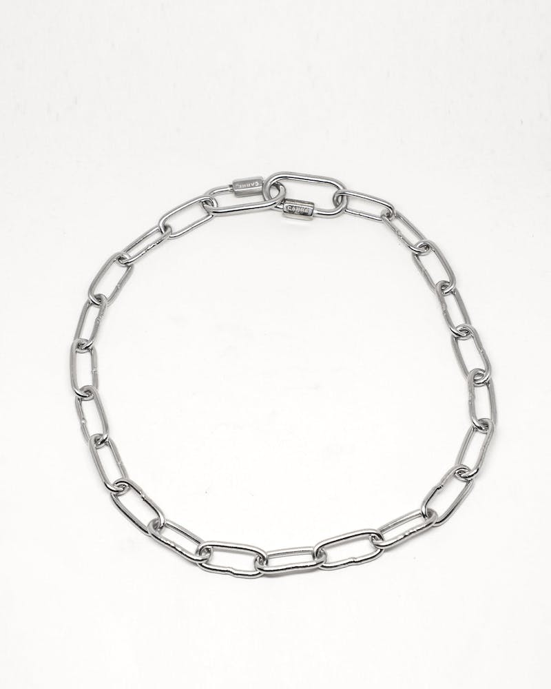 Carré Chain Gang Necklace Silver