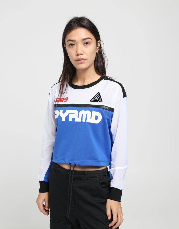 Black Pyramid Women's PYRMD 1989 LS Crop Top Blue