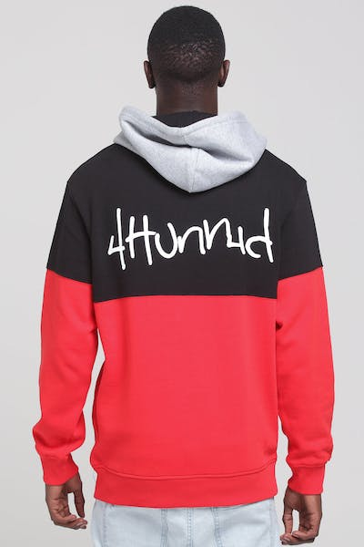 4Hunnid Black Hoody Red/Black