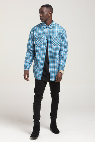 Saint Morta Flow LS Flannel Shirt Electric Blue
