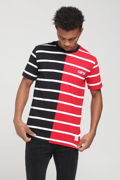 Carré Bande Duo Classique SS Stripe Tee Black/Red