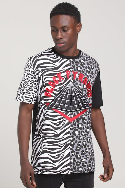 Black Pyramid Animal Mashup Tee White