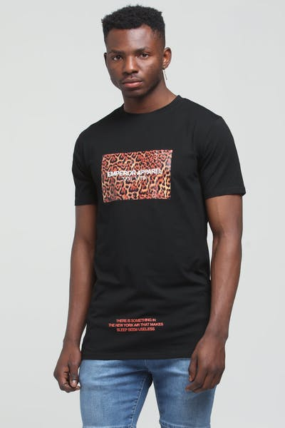 Emperor Apparel New York Tshirt Black/Leopard