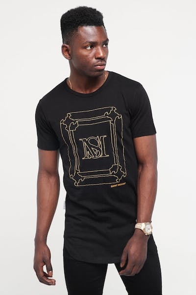 Saint Morta Ornate El Duplo SS Tee Black/Gold