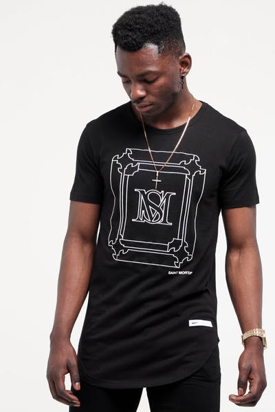 Saint Morta Ornate El Duplo SS Tee Black/White