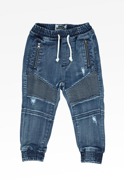 Lil Hommé Biker Panel Jogger Dark Blue