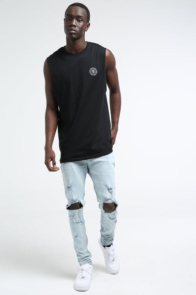 Elevn Sphere Muscle Tee Black
