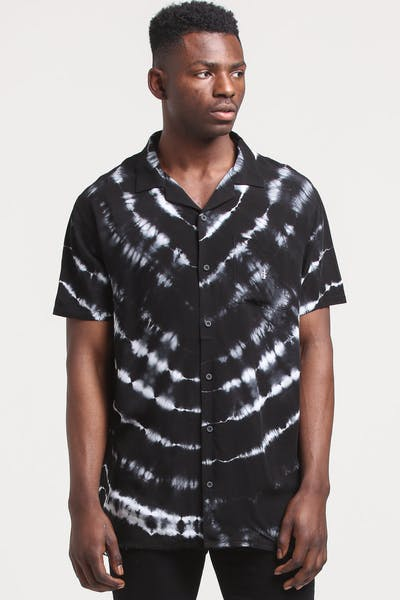District Goods Contrary Button Up Black/White