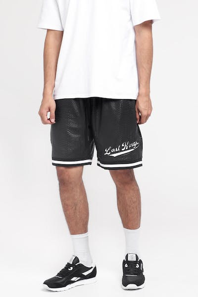 Last Kings Mamba Basketball Shorts Black Snakeskin