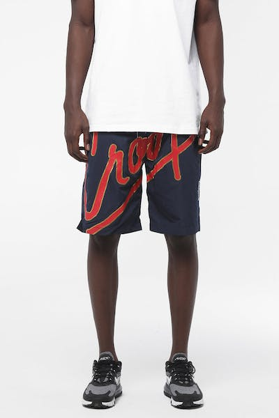 Crooks & Castles Splash Script Short Navy