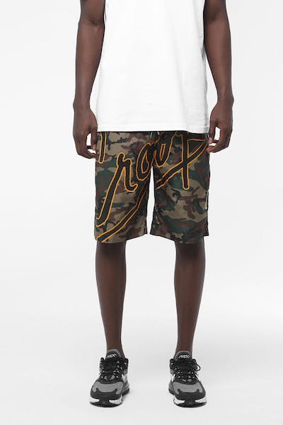 Crooks & Castles Splash Script Short Camo