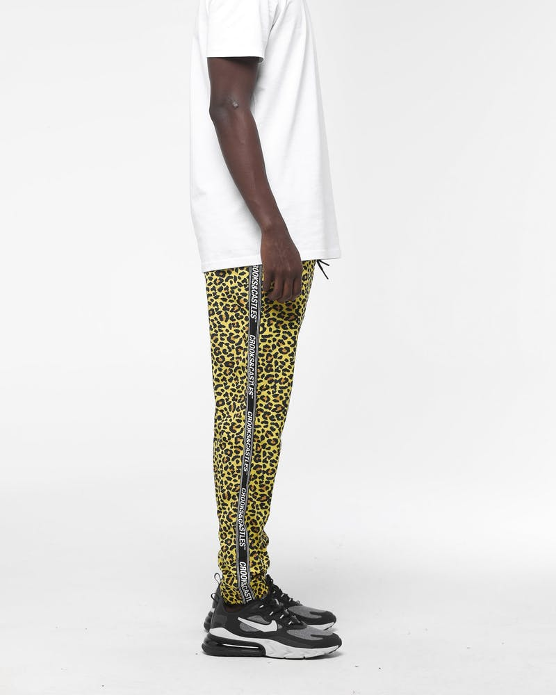 Crooks & Castles Slant Core Windbreaker Pant Leopard