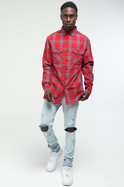 New Slaves Falcon Flannel Shirt Red