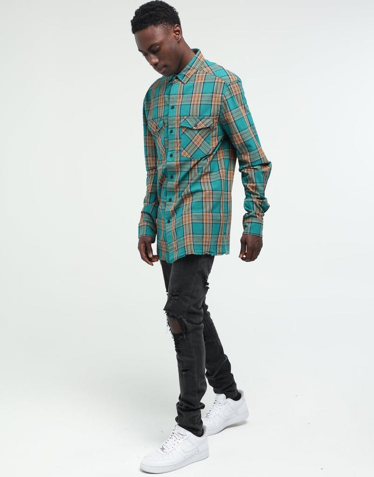 New Slaves Falcon Flannel Shirt Green