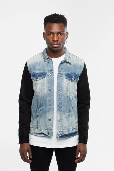 New Slaves Split Ends Denim Jacket Blue/Black