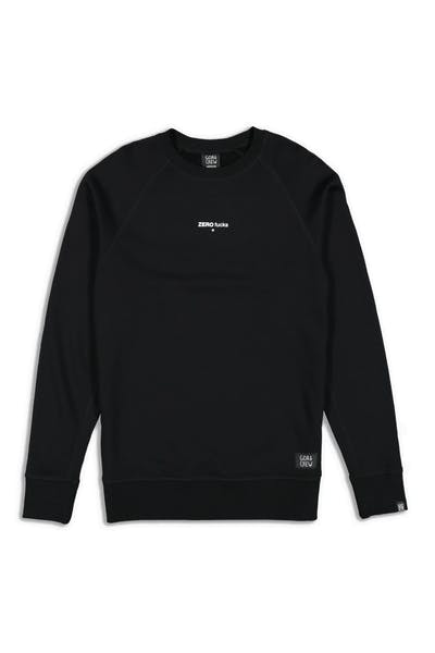 Goat Crew Zero Fucks Given Crewneck Black