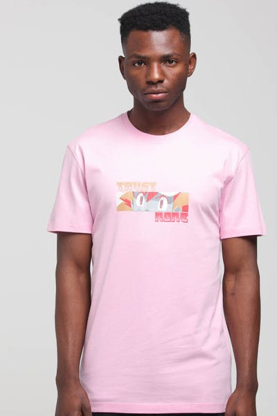 Goat Crew Trust None SS Tee Pink