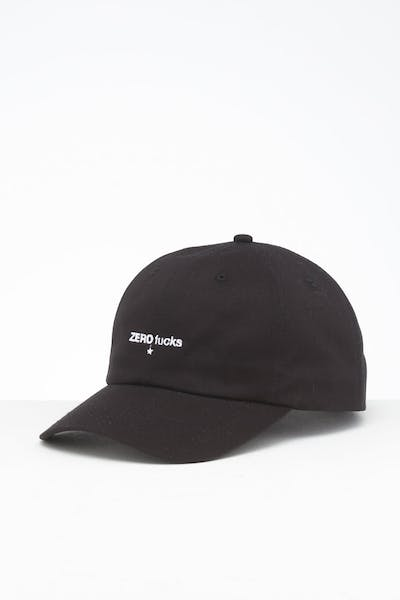 Goat Crew Zero Fucks Unstructured Strapback Black