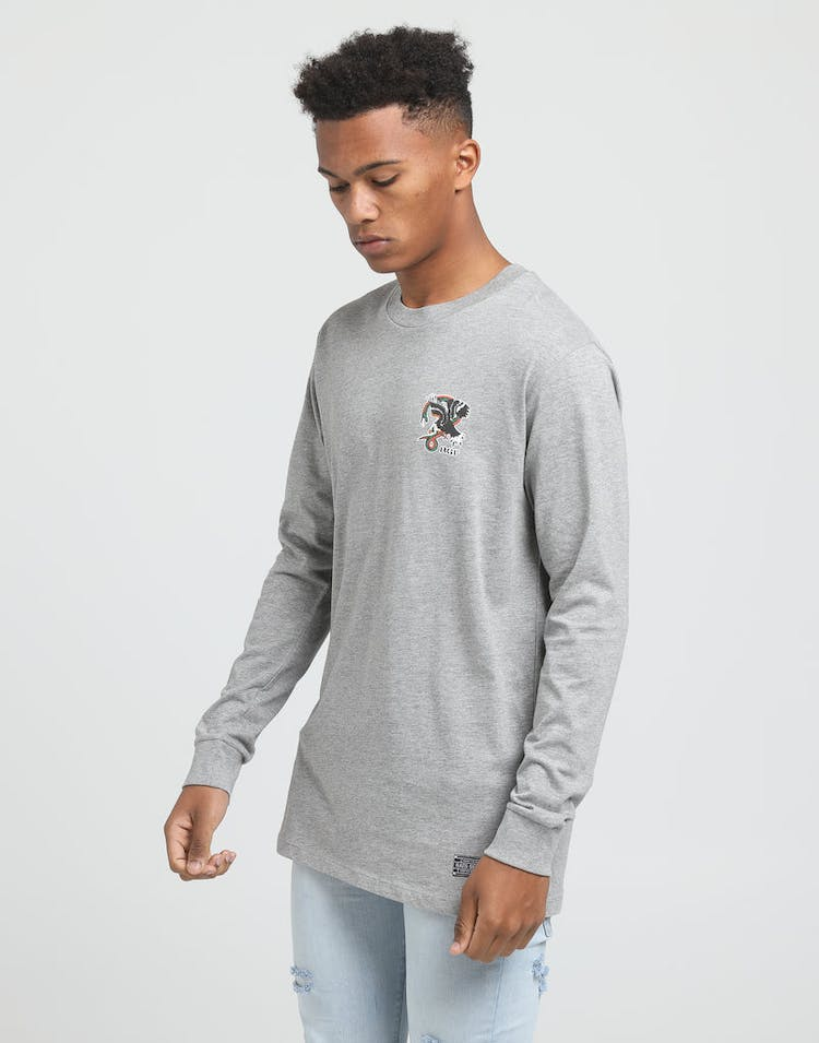 RATS GET FAT ATTACK LS TEE GREY