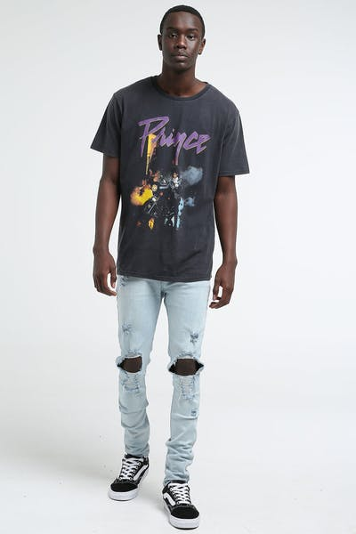 Prince Purple Ride SS Tee Black