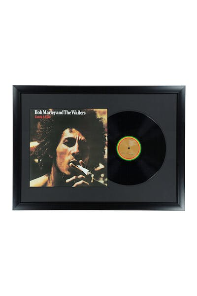 Music Merch Bob Marley Catch A Fire Framed Vinyl