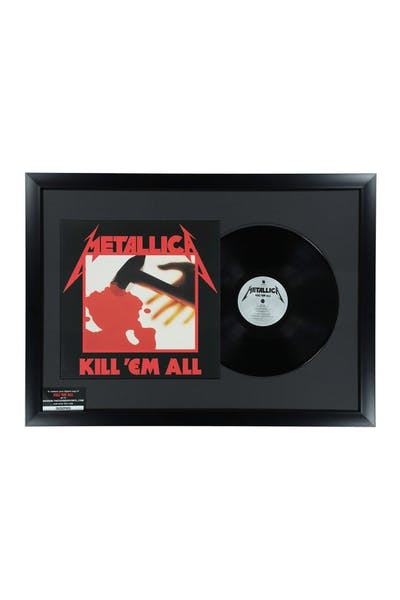 Music Merch Metallica Kill Em All Framed Vinyl