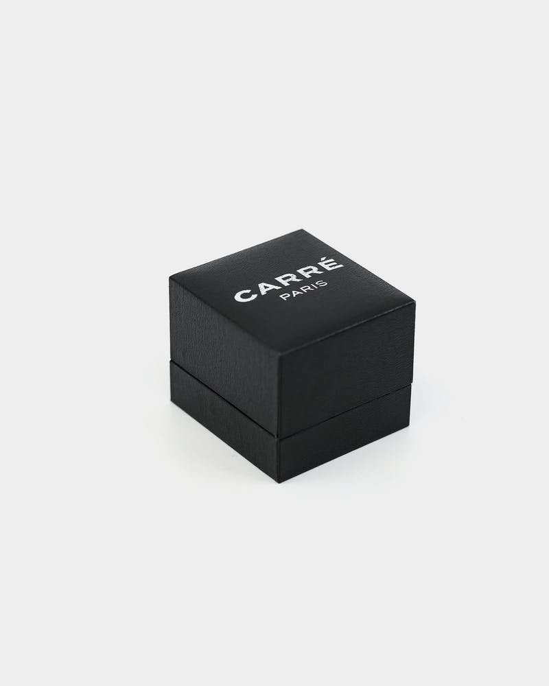 CARRÉ BLOC RING SILVER/BLACK