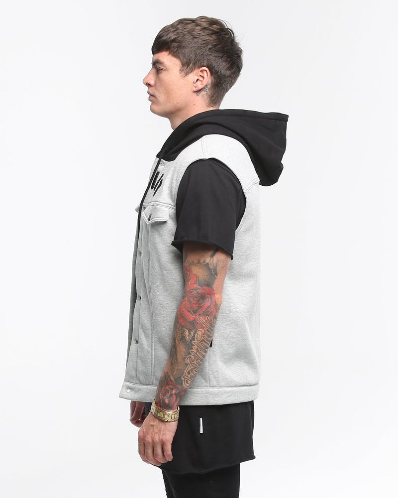 Saint Morta London Sleeveless Jacket Grey Marle/Black