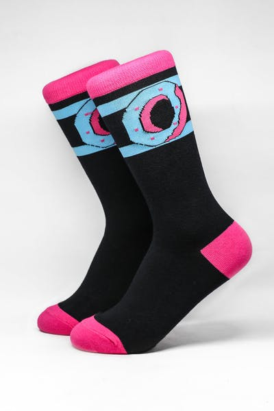 Odd Future Donut Logo Sock Black