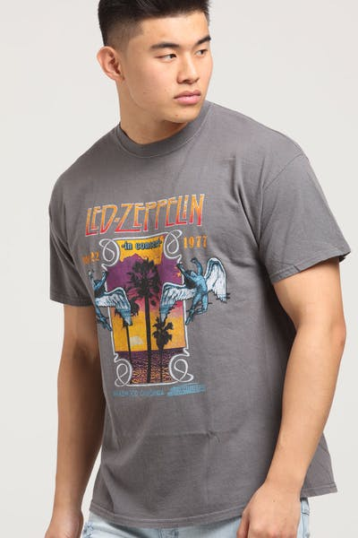 Led Zeppelin Inglewood Vintage Tee Washed Charcoal
