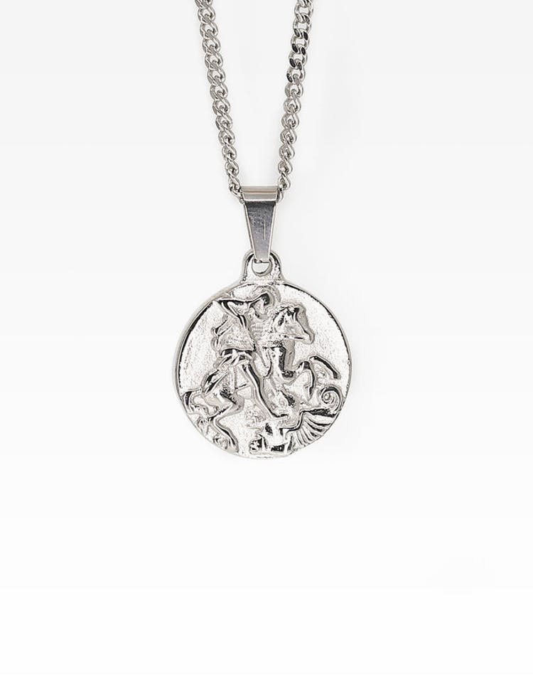 01031c44d98 Midnight City St George Pendant & Chain Silver – Culture Kings