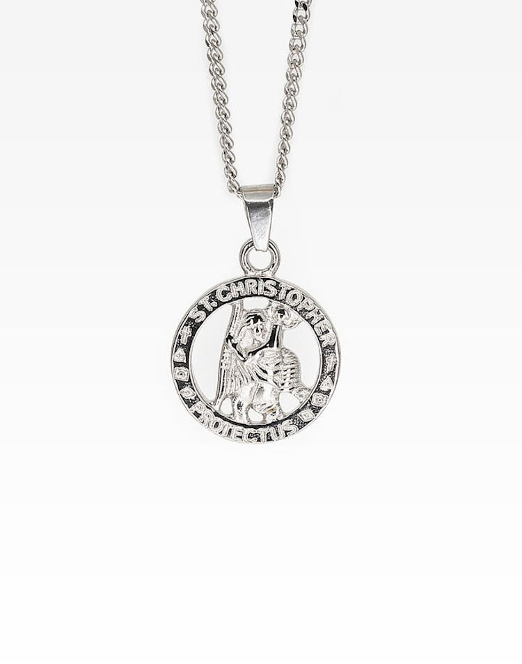d6675583faf Midnight City St Christopher Pendant & Chain Silver – Culture Kings
