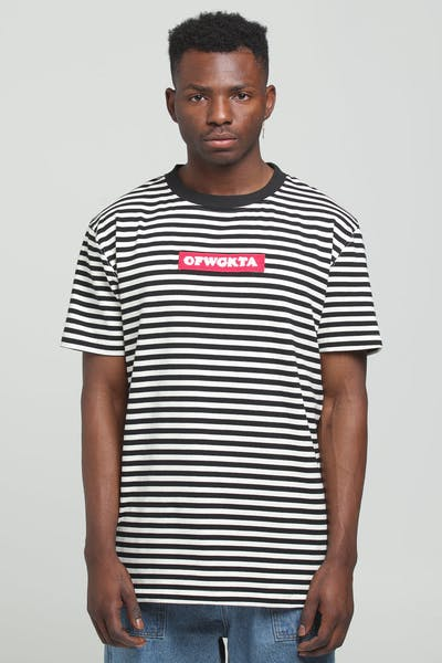 Odd Future OFWGKTA Stripe Tee Black/White