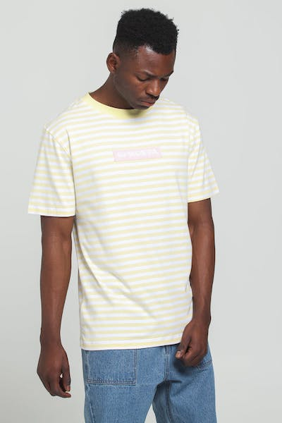 Odd Future OFWGKTA Stripe Tee Yellow/White