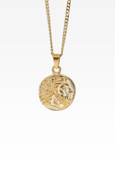 Midnight City Zeus Pendant & Chain Gold