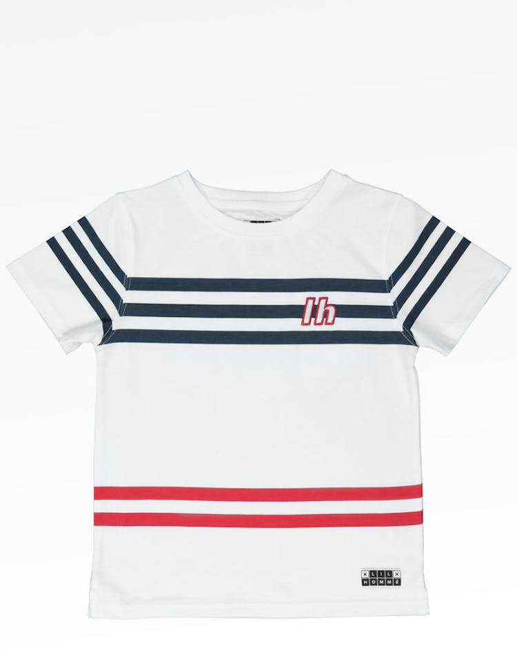 Lil Hommé Andre Classique SS Tee White/Navy/Red