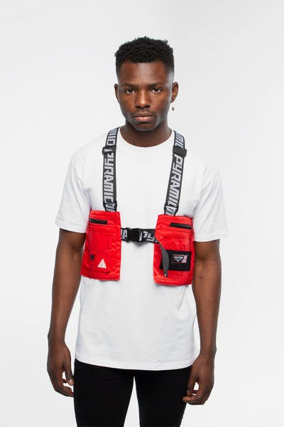 Black Pyramid Splinter Solid Military Vest Red