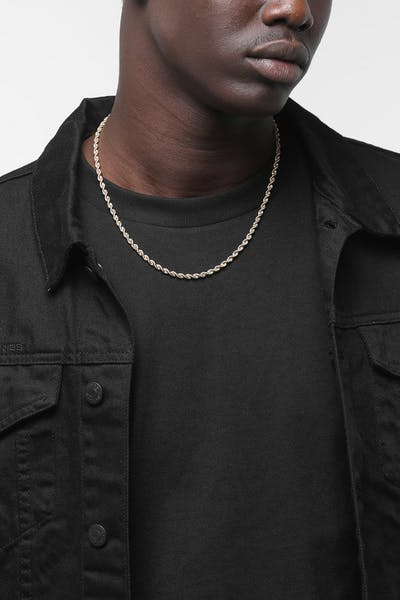 "HOUSE OF AURIC 4MM ROPE CHAIN 20"" 10K GOLD"