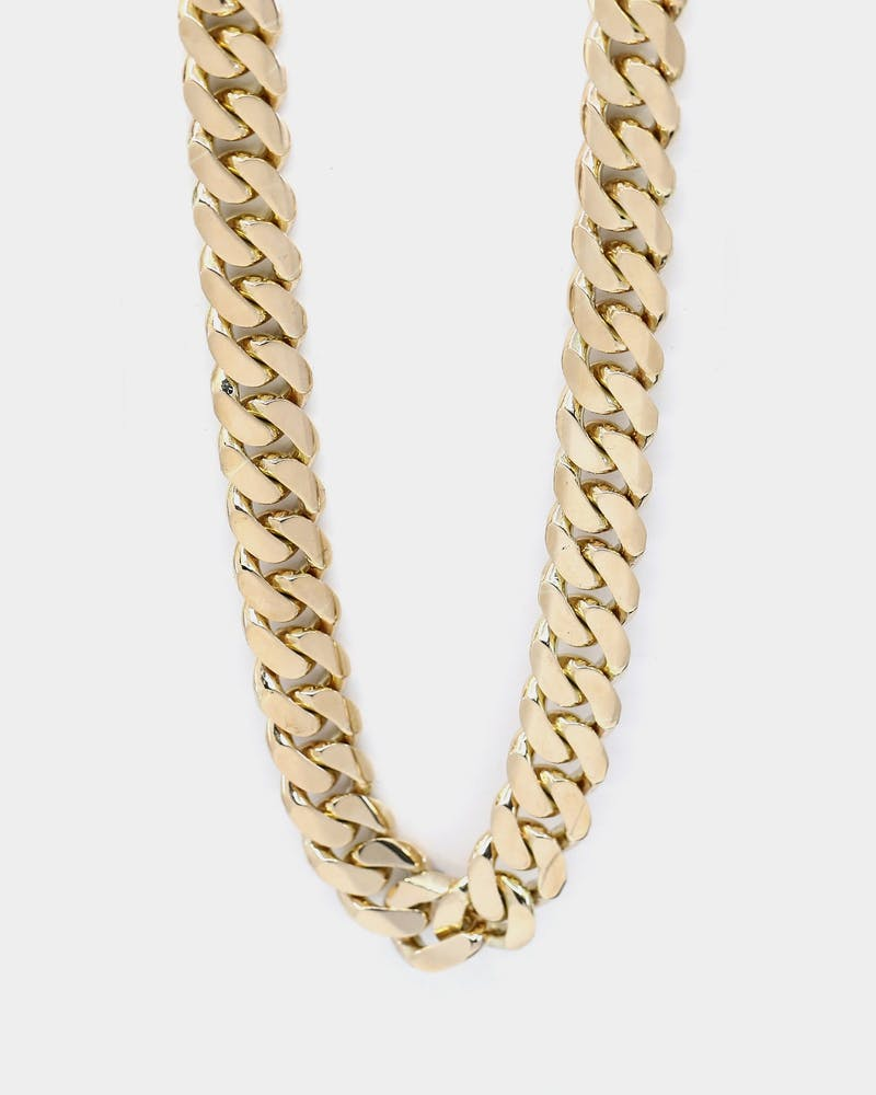 "HOUSE OF AURIC 18MM CUBAN LINK 20"" CHAIN 10K GOLD"