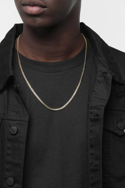 "HOUSE OF AURIC 4MM CUBAN LINK 24"" CHAIN 10K GOLD"