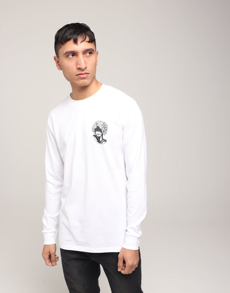 Rats Get Fat Hide LS Tee White