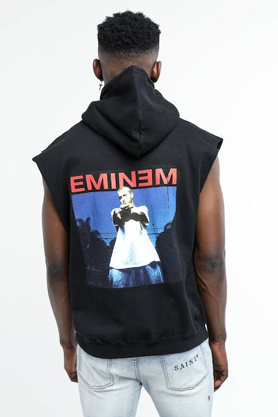Eminem Sleeveless Photo Hoodie Black