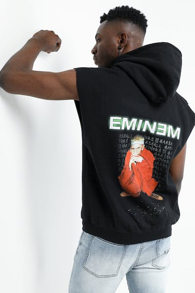 Eminem Sleeveless Lyrics Hoodie Black