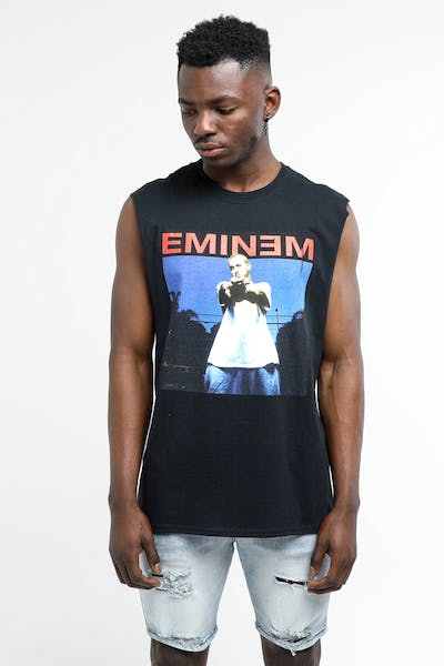 Eminem Photo Muscle Tee Black