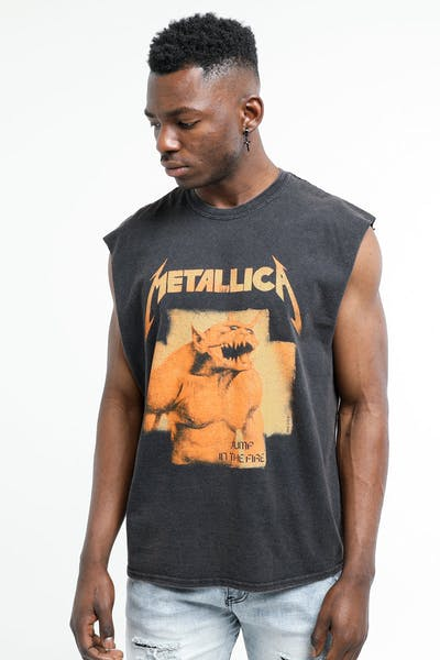 METALLICA Jump In The Fire Muscle Tee Washed Black